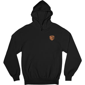 Mo Bamba Signature Black Hoodie - Orange Print Front
