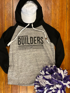 Builders Raglan Color Block Hoodie W/ Side Pockets