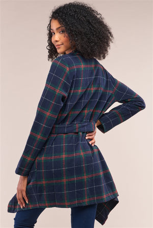 NY State Of Mind Checkered Wrap Coat