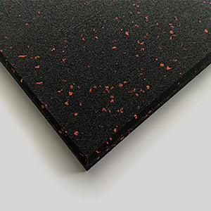 Commercial Rubber Gym Flooring - 15mm (Red Speckle)