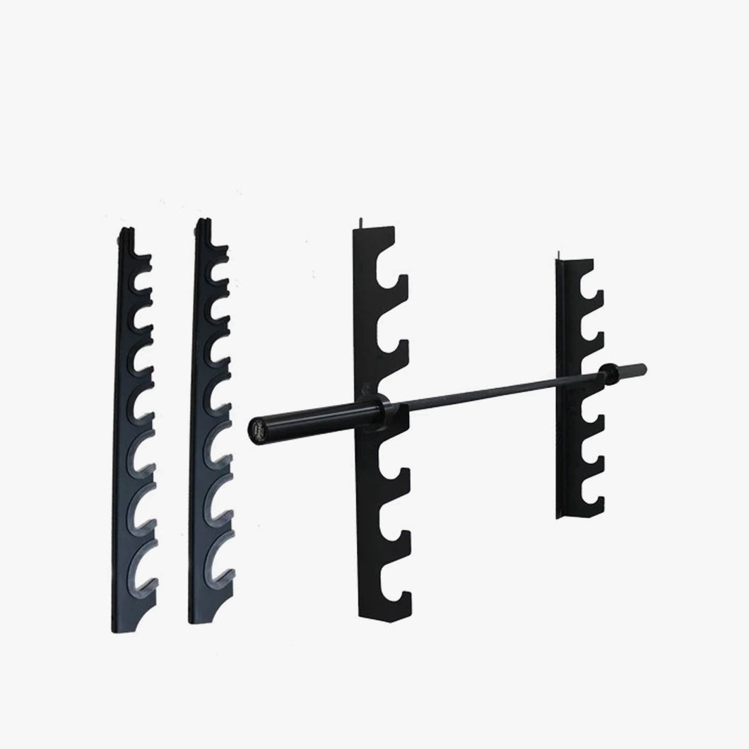 Wall mounted barbell storage rack