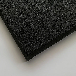 Commercial Rubber Gym Flooring - 100 x 10mm  (All black package)