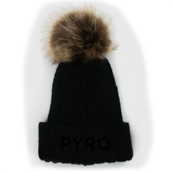 PYRO Fur Beanie - Blackout
