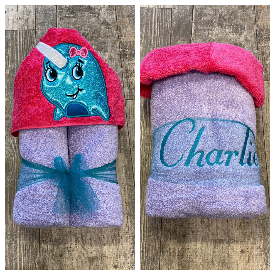 Narwhal Hooded Towel