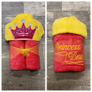 Princess Crown Hooded Towel