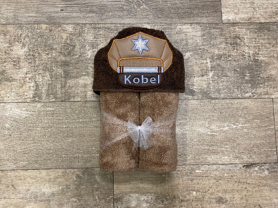 Sheriff Hooded Towel