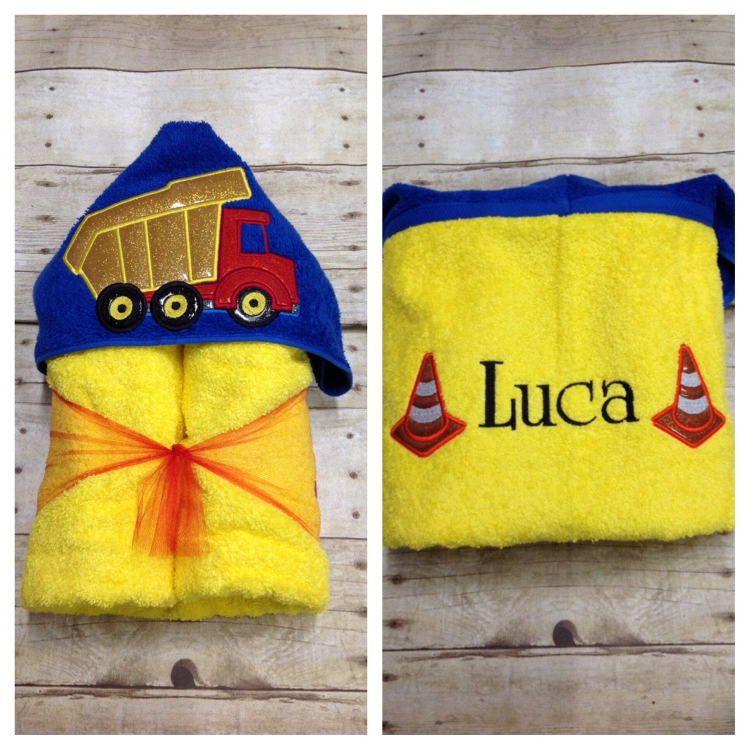 Dump Truck Hooded Towel