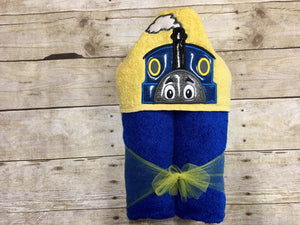 Talking Train Hooded Towel
