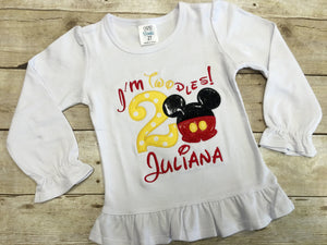 I'm Twodles Mickey Mouse Birthday Shirt