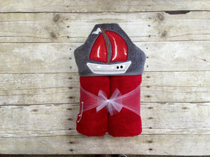 Sailboat Hooded Towel