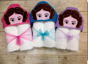 Princess Leia Hooded Towel
