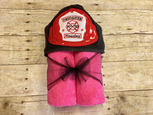 Firefighter Hooded Towel