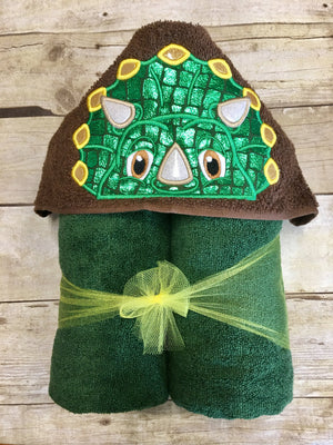 Triceratops Hooded Towel