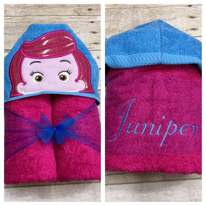 Blue Hair Fish Boy Hooded Towel