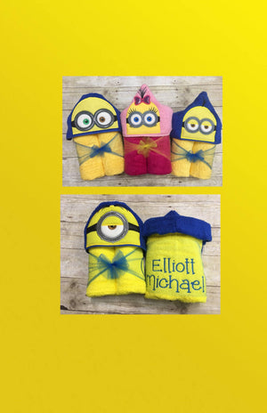Yellow Follower Kevin Hooded Towel