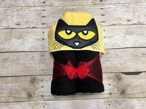 Sneaker Cat Hooded Towel