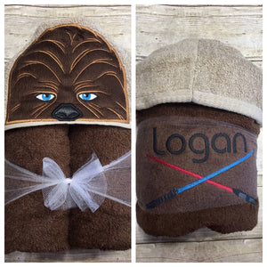 Star Wars Baby Chewy Hooded Towel