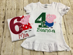 Peppa Pig Birthday Shirt