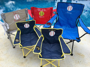 Personalized Baseball Chair