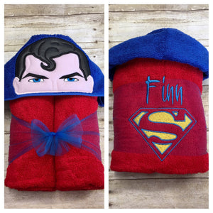 Super Man Hooded Towel