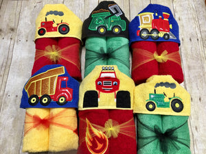 Trucks Hooded Towel