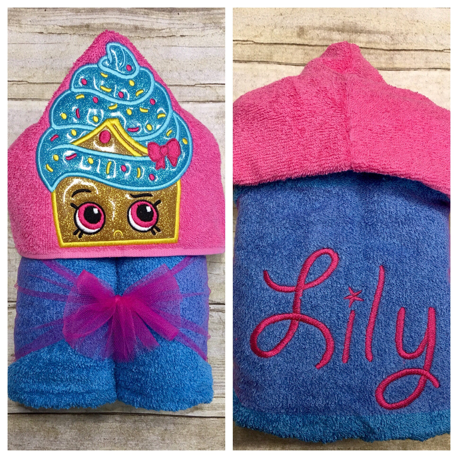 Cupcake Hooded Towel