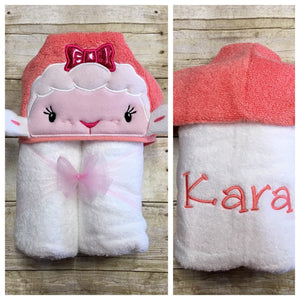 Lambie Inspired Hooded Towel
