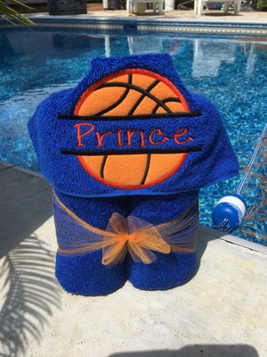 Sports Theme Hooded Towel