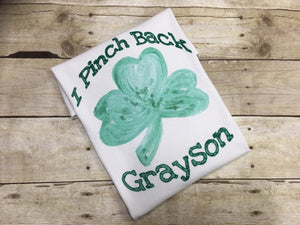 I Pinch Back Boys St Patricks Day Shirt