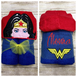 Wonderful Woman Hooded Bath Towel for Kids