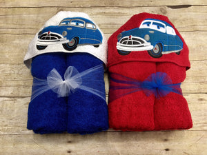 Cars Inspired Hooded Bath Towel
