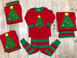 Family Personalized Christmas Tree Pajamas