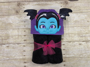 Little Vampire Girl Hooded Towel