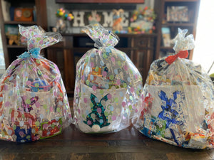 Sequin Bunny Easter Basket