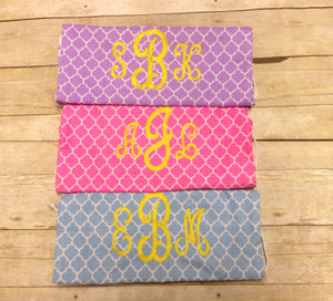Personalized Monogrammed Chevron & Quatrefoil Gym Bag