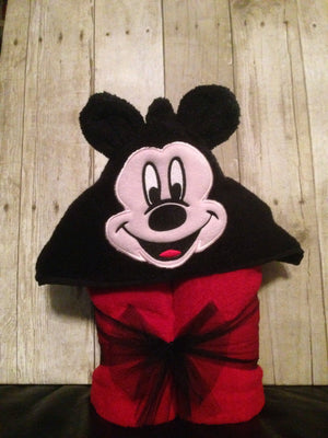 Personalized Mickey Mouse Inspired Hooded Towel