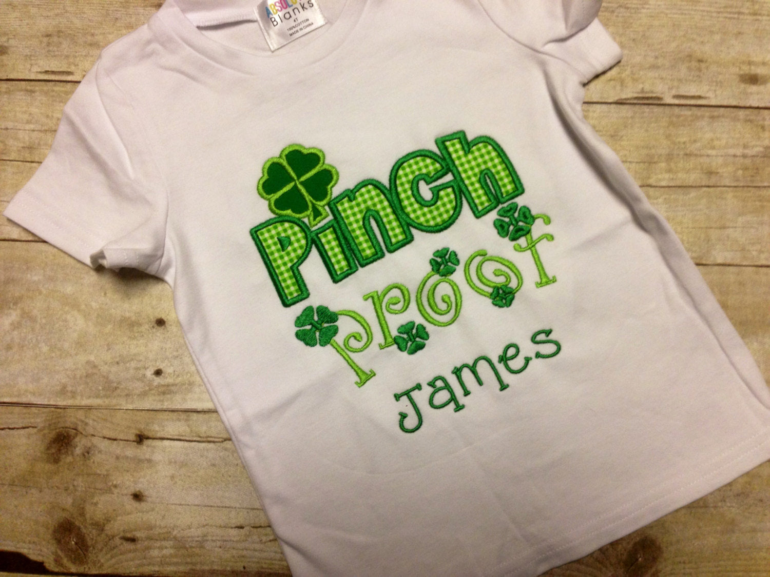 Personalized Boys or Girls St Patrick's Day Pinch Proof Shirt or Onesie