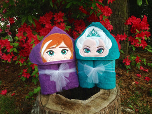 Personalized Anna Inspired Hooded Towel
