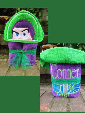 Toy Story Buzz Lightyear Inspired Hooded Towel