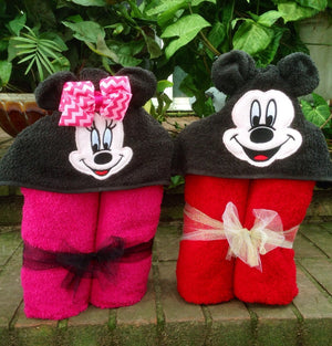 Mouse Clubhouse Hooded Towels