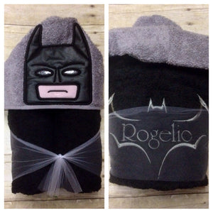 Block Bat Superhero Hooded Towel