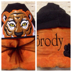Gold Tiger Hooded Towel