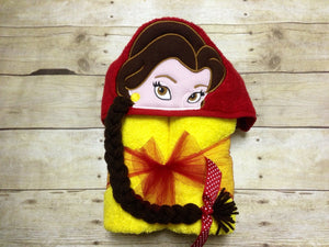 Belle Inspired Hooded Towel