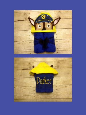 Cop/ Police Officer Hooded Towel