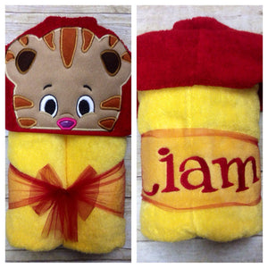 Tiger Hooded Towel/ PreSchool Tiger Towel