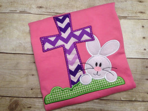 Girls Easter Cross Shirt