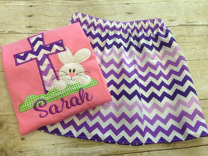 Girls Pink and Purple Easter Outfit