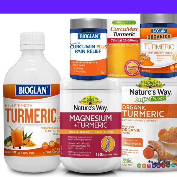 Up to 25% off a huge range of turmeric and curcumin products
