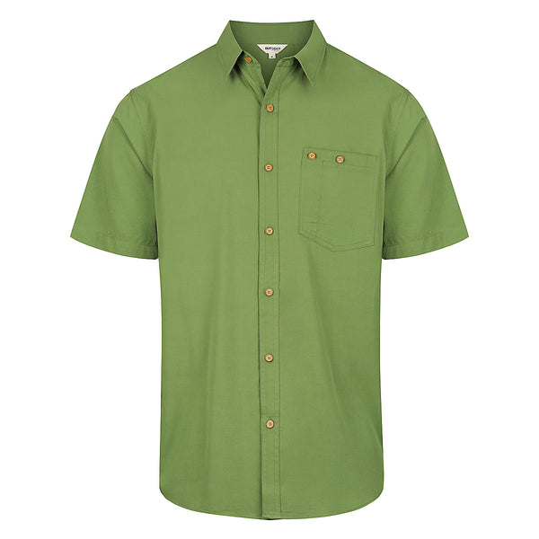 Men's Woven Short Sleeve Button Shirt