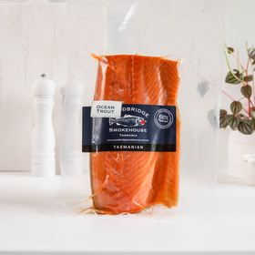 Hot Smoked Ocean Trout 500g